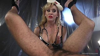 Cherie DeVille,DJ in Nurse Cherie DeVille Inflicts Sadistic Medical Malpractice on DJ - DivineBitches