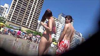 wonderful young teenager with a small string bikini!