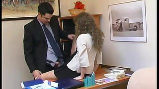 Leila secretary taking some dick
