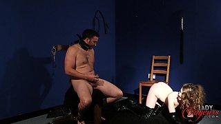 Naked man masturbates while watching provocative Brook Logan