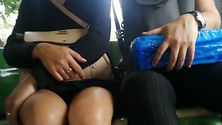 Boso jeep hot milf.. blue panty