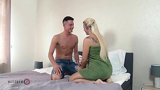 Tatjana Young got nailed very hard early in the morning instead of getting ready for work