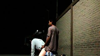 Two gay lovers enjoy anal sex in the still of the night
