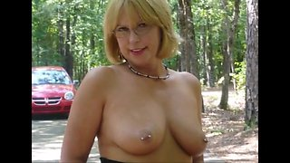 Nipples pierced and clamped