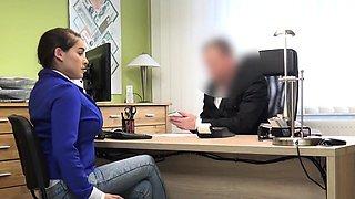 LOAN4K. Mischel Lee enjoys sex for cash with manager in...