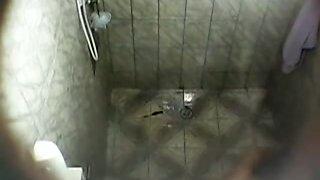 Hidden camera mexican Mom in shower