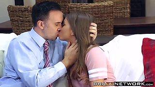 Babysitter Jill Kassidy is caught masturbating by Keiran Lee