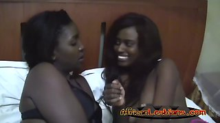 two very hot amateur black lesbian girls lick each other vaginas passsionately