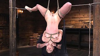 Young babe is into some serious and dark BDSM stuff