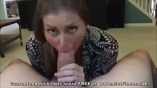 happy milf slut finds massive fat dick to swallow home made