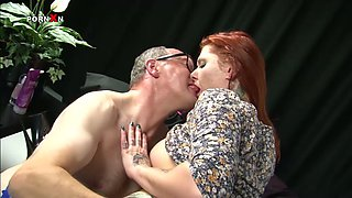 Busty redhead slut gets her wet cunt fisted bad in dirty XXX porn clip