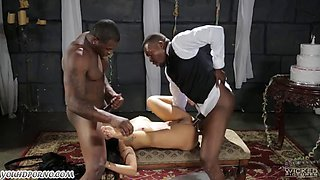 groom with his best friend fuck girlfriend in the basement