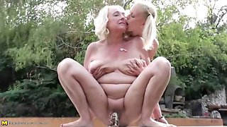 Lesbian pissing group sex with grannies