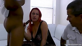 You like watching me suck that cock?