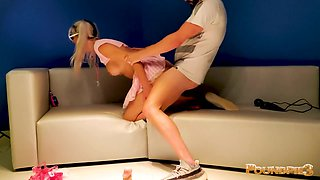 Cute School Girl Bimbo Gets Her Holes Destroyed By Nerd!