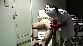 Hot nurse latex and cumshot