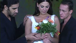 Sluttiest Bride Simony Diamond Double Penetrated in Her White Dress