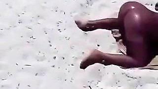beach nude slut wife