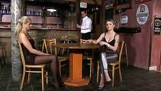 Toilet femdom with barman