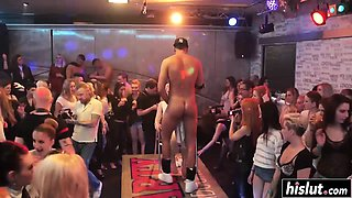 Party girls display their amazing skills