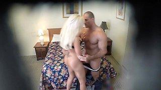 Motel hidden cam captures a horny couple fuckin ghardcore