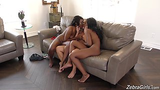 Cali Carter and Jezabel Vessir hook up with a chick for a threesome