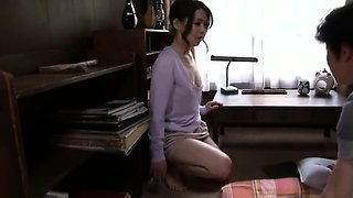 Lonely Japanese wife has a young cock satisfying her needs