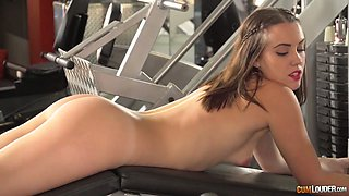 Sexy girl Zoe Doll and another hottie fuck their coach in the gym