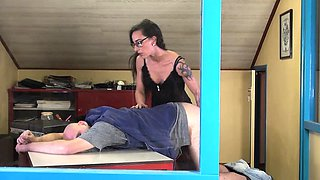 The boss is not happy and this fierce woman loves to punish