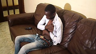 African Twink Eric Jacks Off