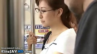 Japanese office lady has sex in public