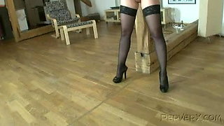Young submissive gaping pregnant slut