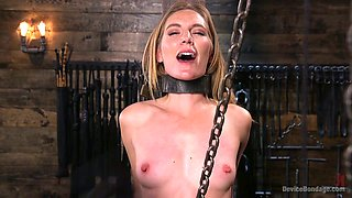 Super flexible submissive whore Mona Wales gets fingerfucked brutally