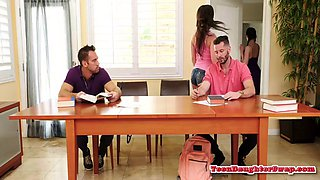stepteens pounded in foursome