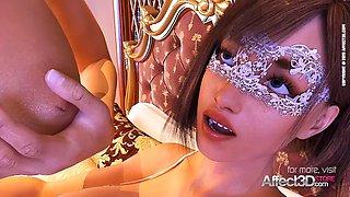 Big tit girls having futanari sex in the bedroom