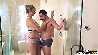 busty mature julia ann seduces her stepson in the shower