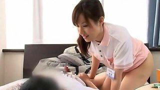 Hottest Japanese girl Rei Mizuna in Horny Nurse, Cunnilingus JAV scene