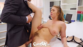CUM4K Office Secretary Welcomes Multiple Creampies For Promotion