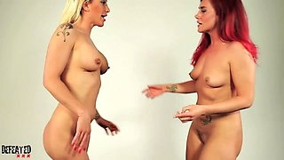 Rough Wild and Extreme Lesbian Sexfight