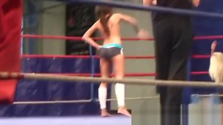 Glamour lesbians wrestling
