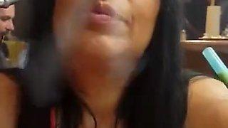 stunning smoking nose exhales