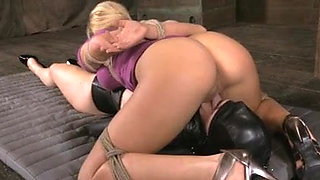 Ultrafetish Lesbian Bondage Submission and Strap-on games
