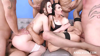 Drilling Deep in Gangbang With D A P With Tabitha and Kimberlee 2