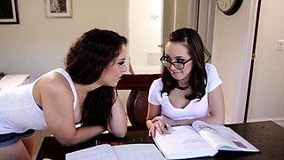 Lesbian milf rubs clit