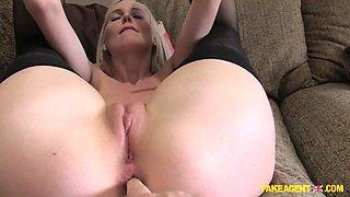 Lexi in Blonde pops anal cherry in casting - FakeAgentUk
