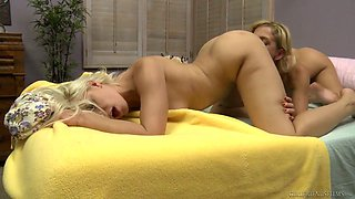 Perfect and really seductive lesbian Anikka Albrite gonna eat wet pussy of her babe