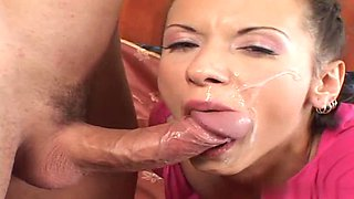 Liza Montaza covered in semen after being fucked up her anus