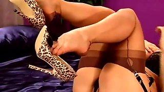 Nylon stocking tease