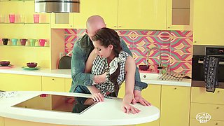 PINUP SEX - Sensual kitchen sex with sexy Czech babe