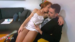 Naughty friend seduces my daddy and fucks him slowly